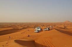 Cars in desert Royalty Free Stock Image