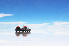 Cars at the dessert Stock Photography