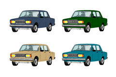 Cars different colors Stock Photography