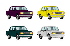 Cars different colors Royalty Free Stock Images
