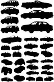 Cars of different types. Royalty Free Stock Photography