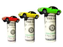 Cars on dollar Royalty Free Stock Photo