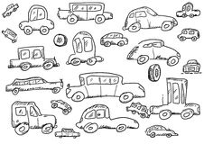 Cars doodle icons set Royalty Free Stock Photo