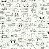 Cars doodles seamless. Vector Illustration. Cars doodles seamless Stock Images