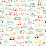 Cars doodles seamless. Vector Illustration. Cars doodles seamless Royalty Free Stock Photo
