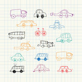 Cars doodles set. Vector Illustration. Cars doodles set Stock Photo