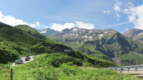 Cars driving along the Grossglockner High Alpine Road in Austria stock video