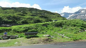 Cars driving along the Grossglockner High Alpine Road in Austria stock footage