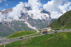 Cars driving along the Grossglockner High Alpine Road in Austria Stock Photography