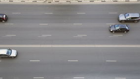 Cars driving on a multilane road stock footage