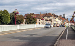 Cars driving on a road in france Stock Photo