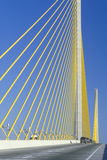 Cars driving on Sunshine Skyway Bridge Stock Photography