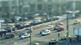 Cars driving, time lapse stock footage