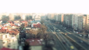 Cars driving, timelapse in Bucharest stock footage