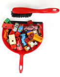 Cars on a dustpan royalty free stock photo