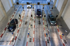 Cars entering parking garage Royalty Free Stock Photography