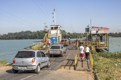 Free Cars Entrance In Ferry Boat Stock Photo - 114639570