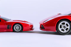 Cars face to face Stock Images