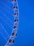 Cars of ferris wheel in park Royalty Free Stock Images