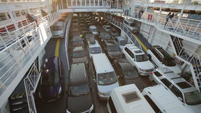 Cars on the Ferry stock video footage