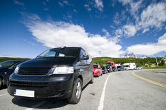 Cars at ferry crossing Royalty Free Stock Photography