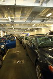 Cars on a Ferry crossing Stock Photos