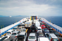 Cars on ferry Stock Image