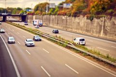 Cars on freeway Royalty Free Stock Image