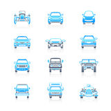 Cars front view icons | marine series Stock Photography
