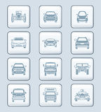 Cars front view icons | TECH series Stock Photo
