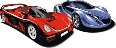 Cars of future (my original automobile design) Stock Photos