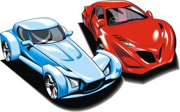 Cars of future (my original automobile design) Stock Photography