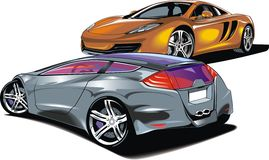 Cars of future (my original automobile design) Stock Photo