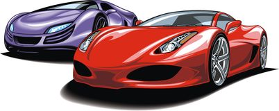 Cars of future (my original automobile design) Royalty Free Stock Photo