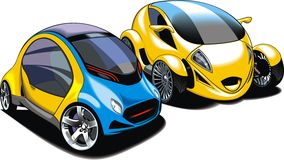 Cars of future (my original automobile design) Stock Image