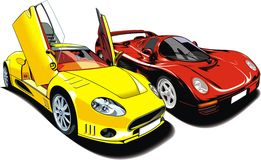 Cars of future (my original automobile design) Royalty Free Stock Images