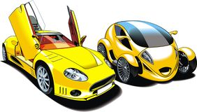 Cars of future (my original automobile design) Royalty Free Stock Image
