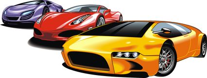 Cars of future (my original automobile design) Stock Photo