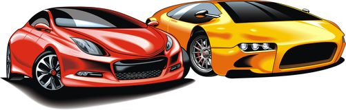 Cars of future (my original automobile design) Royalty Free Stock Photos