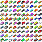 Cars Game Icons 3D Vector Isometric Vehicles Royalty Free Stock Photo