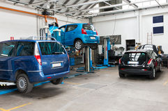 Cars In Garage Royalty Free Stock Photo