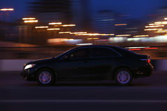 Cars go on the night city Stock Photography