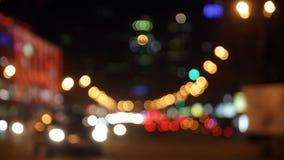 Cars go on the night street stock video