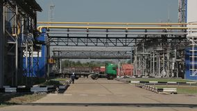 Cars go through the plant stock footage