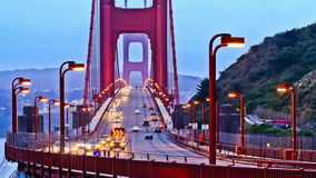 Cars on Golden Gate bridge. A time lapse video of the traffic on the Golden Gate bridge in San Francisco stock video