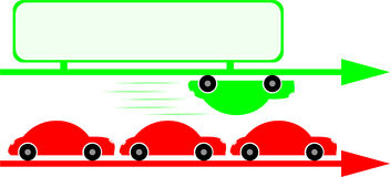 Cars graph 2 royalty free illustration