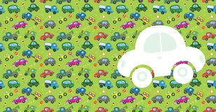 Cars. Greeting card Stock Image