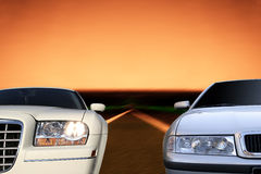 Cars on the highway Royalty Free Stock Photography
