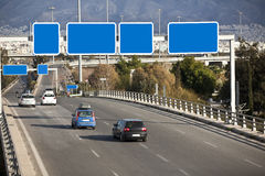 Cars on highway Stock Image