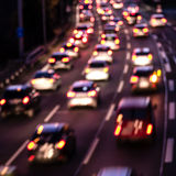Cars on highway (bokeh effect) Royalty Free Stock Image